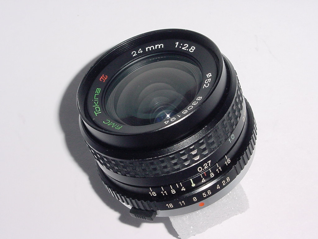 Olympus OM Fit Tokina 24mm F/2.8 II RMC Manual Focus Wide Angle Lens